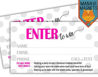 raffle ticket door prize business card unique design single sided custom cards direct sales promotional cards - Pure Romance Business Cards