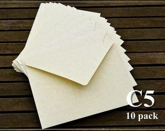 10 Jumbo Envelopes - C5 size - Handmade - Greeting Cards/Invitations Envelopes/Postcards/Photos/Anniversary