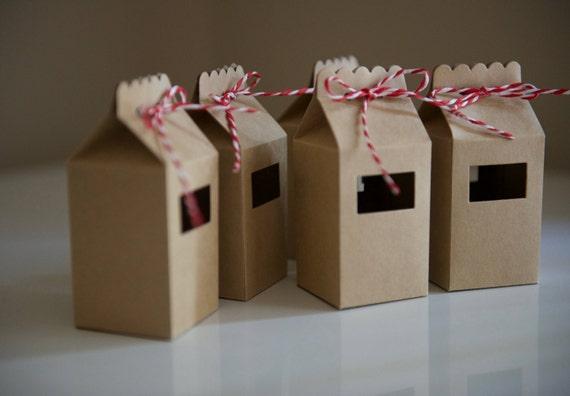 10 Kraft Milk Cartons Candy Cane Handmade Candy Etsy