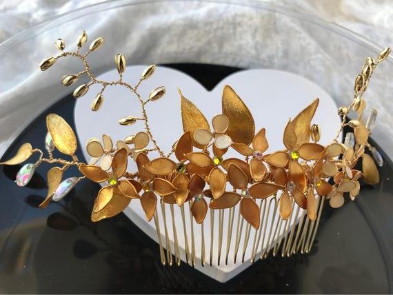 Bridal headdress, for low pickup.