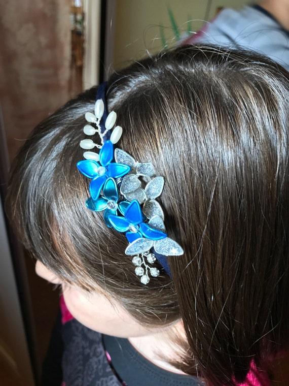 Blue & Silver Headband. Collection 3, Christmas-2016