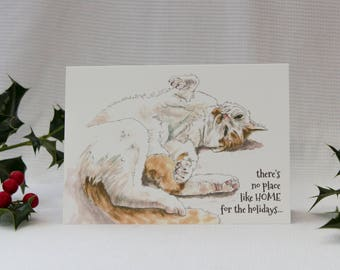 Home for the holidays : Illustrated Christmas Card