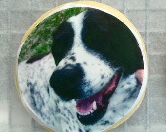 Print it on a cookie!  Photo cookies, logo cookies, custom cookies, birthday, holiday, party favors! (priced per dozen) Fun and unique gift.