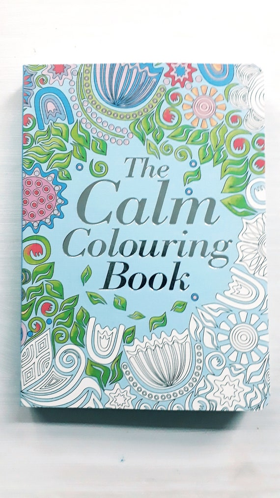 The Calm Colouring Book Gift Christmas Birthday Patterns Etsy