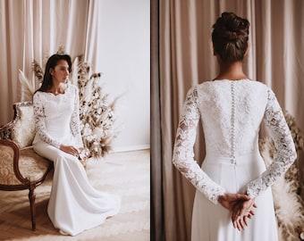 Bateau Wedding Dress Etsy