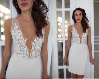 6c134a7685 Two piece wedding dress