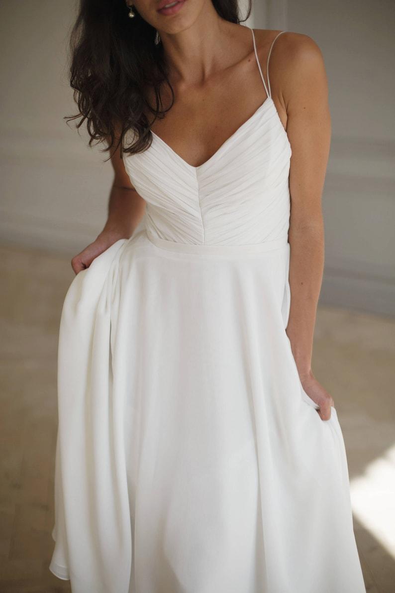 White Wedding Dresses Simple