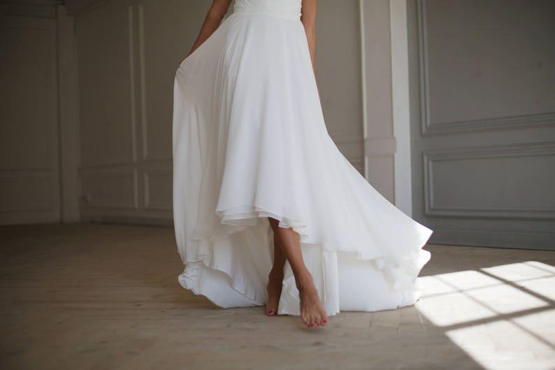 f762c8be2 Wedding skirt Bridal skirt High low skirt Chiffon skirt | Etsy