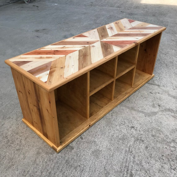 Excellent Reclaimed Wood Large Shoe Welly Storage Unit Bench Dailytribune Chair Design For Home Dailytribuneorg