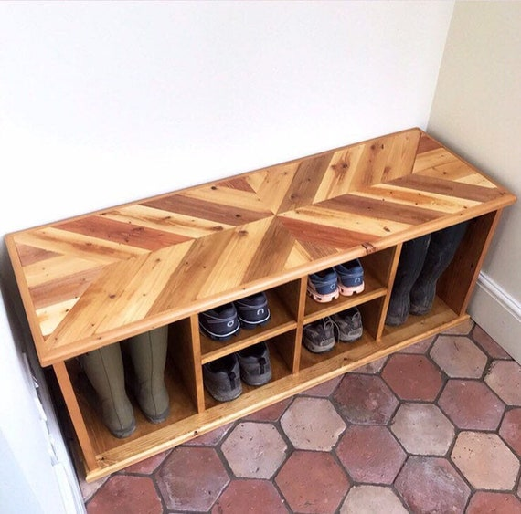 Admirable Reclaimed Wood Large Shoe Welly Storage Unit Bench Dailytribune Chair Design For Home Dailytribuneorg