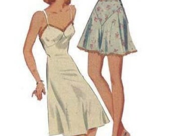 """PDF - 1940s Pattern, Slip, Bra & Knickers - Bust 34"""" (86.36cm) - Instantly Print at Home"""