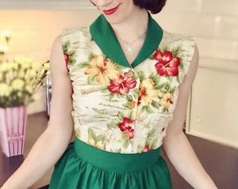 1940's Sewing Pattern, Four Piece Bikini, Shorts, Beachwear Outfit, Pin Up - Multi-sized