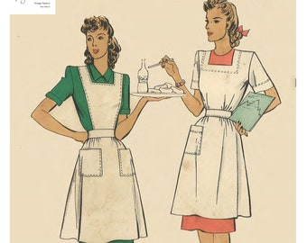 4f076ba68d7ab Vintage 1940's Sewing Pattern American Red Cross Nurse Pinafore Apron Bust  36