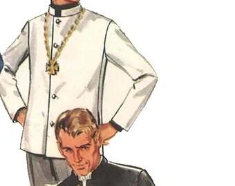 "Vintage 1960's Sewing Pattern:  Men's Nehru Jacket - The Beatles - Chest 40"" (102cm)"