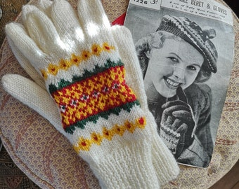 843329bf4dd Fair isle gloves | Etsy