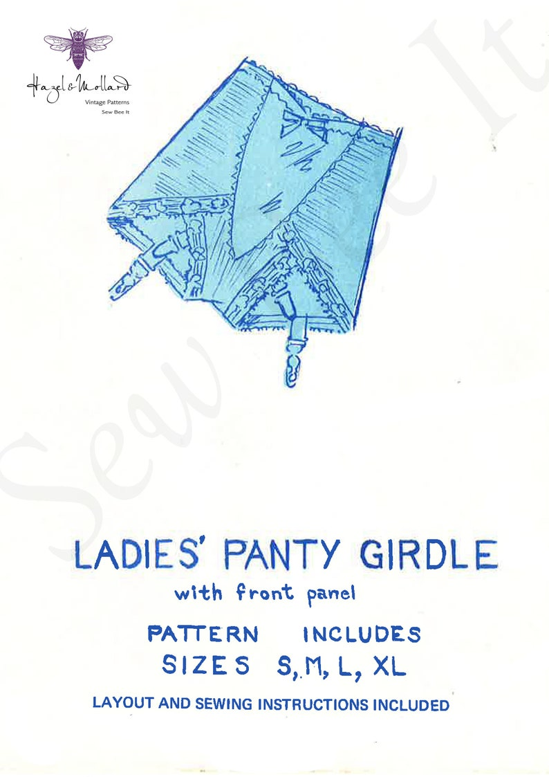 1960s Sewing Patterns | 1970s Sewing Patterns Vintage 1960s Sewing Pattern: Ladies Panty Girdle with Garters Lingerie SMLXL PDF Instant DOWNLOAD $4.03 AT vintagedancer.com