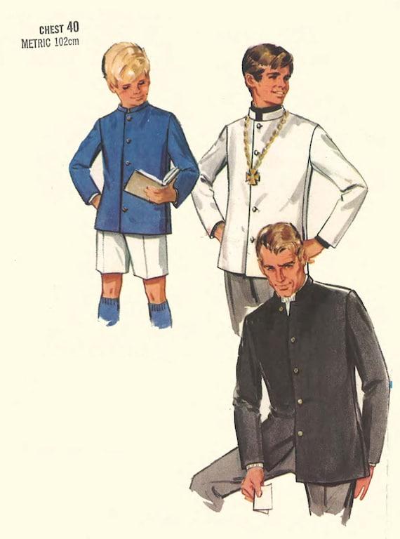 Vintage 1960\'s Sewing Pattern: Men\'s Nehru Jacket   Etsy