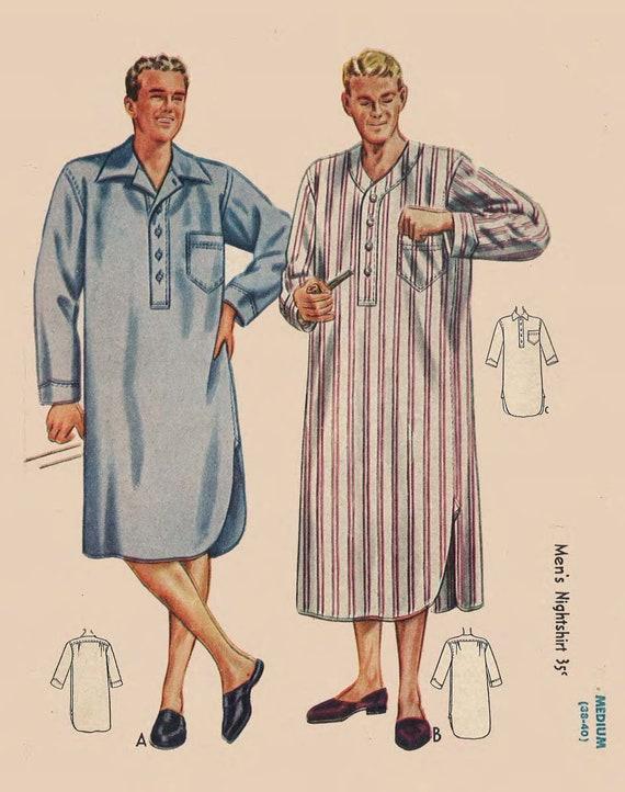 1940-Schnittmuster: Verordnung Herren Nachthemd Brust 34 | Etsy