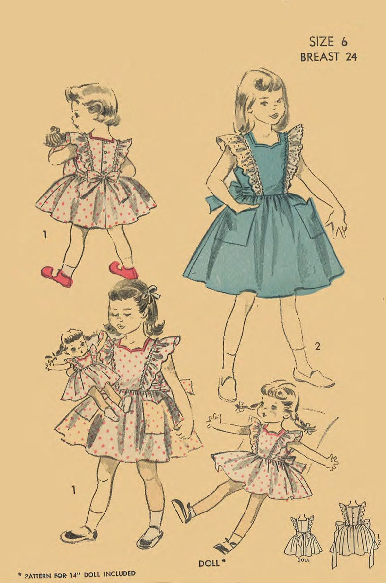 Vintage 1940/'s Sewing Pattern Child/'s Standard Highland Costume Age 8 WWll