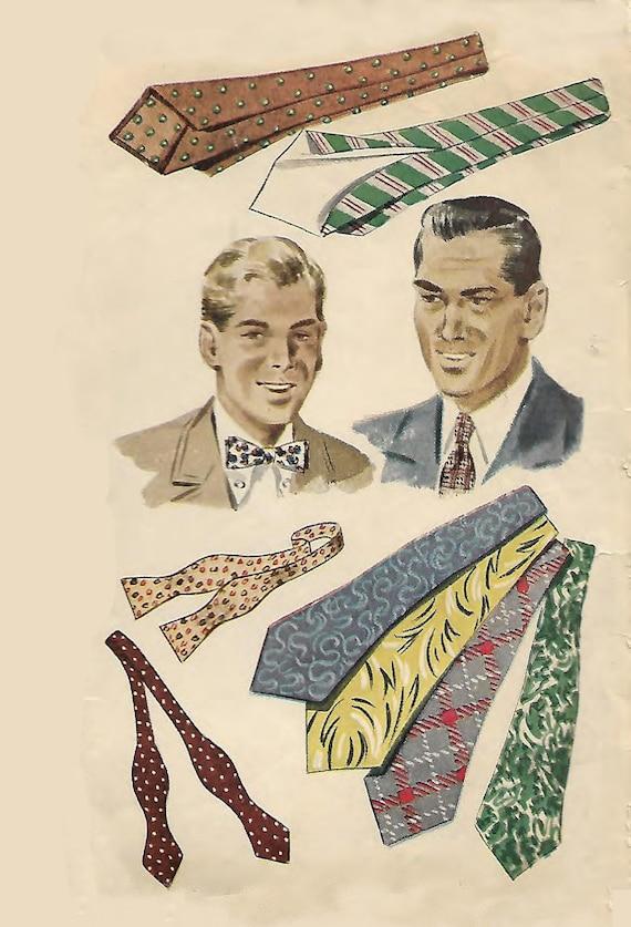 Jahrgang 1940 Nähen Muster gutmütigen Herren Krawatten | Etsy