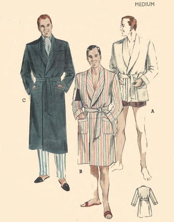 Jahrgang 1950 Muster nähen: Männer ist Kleid Robe Smoking | Etsy