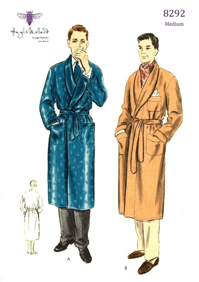 1950s Sewing Patterns | Dresses, Skirts, Tops, Mens Vintage 1950s Sewing Pattern: Dapper Mens Slacks with Pleats Waist 30