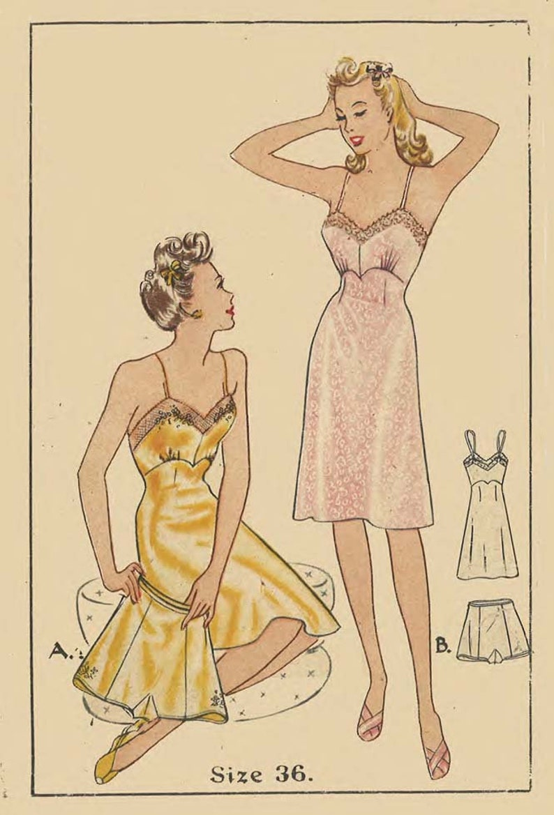 Vintage 1940/'s Sewing Pattern Set of Bra Tops WWII Pin-UP Rockabilly Bust 34-36