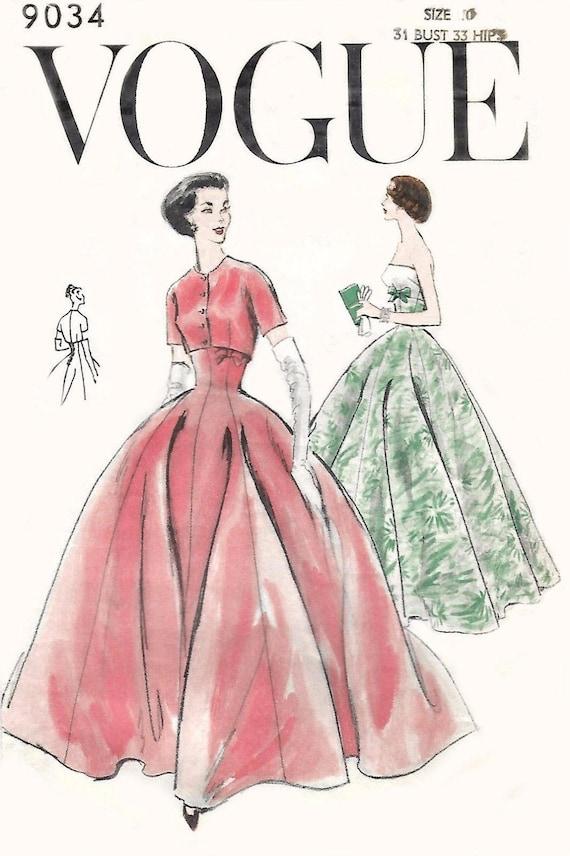 Jahrgang 1950 Nähen Muster Vogue Abendkleid Ball & Bolero Prom | Etsy