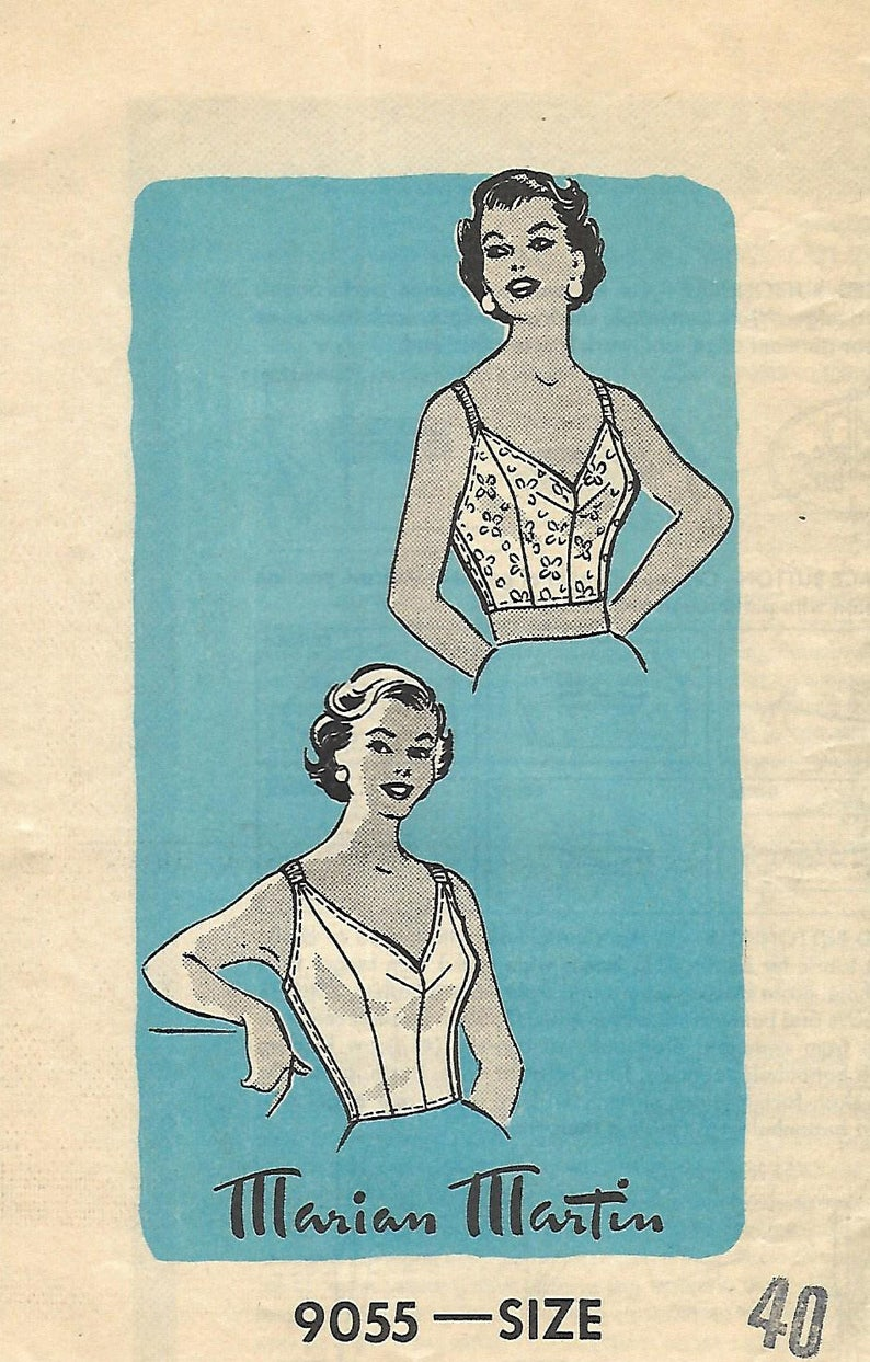 ca076c98ce5 1950 s Vintage Sewing Pattern  Women s Lingerie Bra