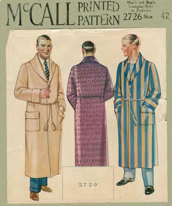 Jahrgang 1920 Muster nähen: Männer ist faulenzen Gewand Brust | Etsy