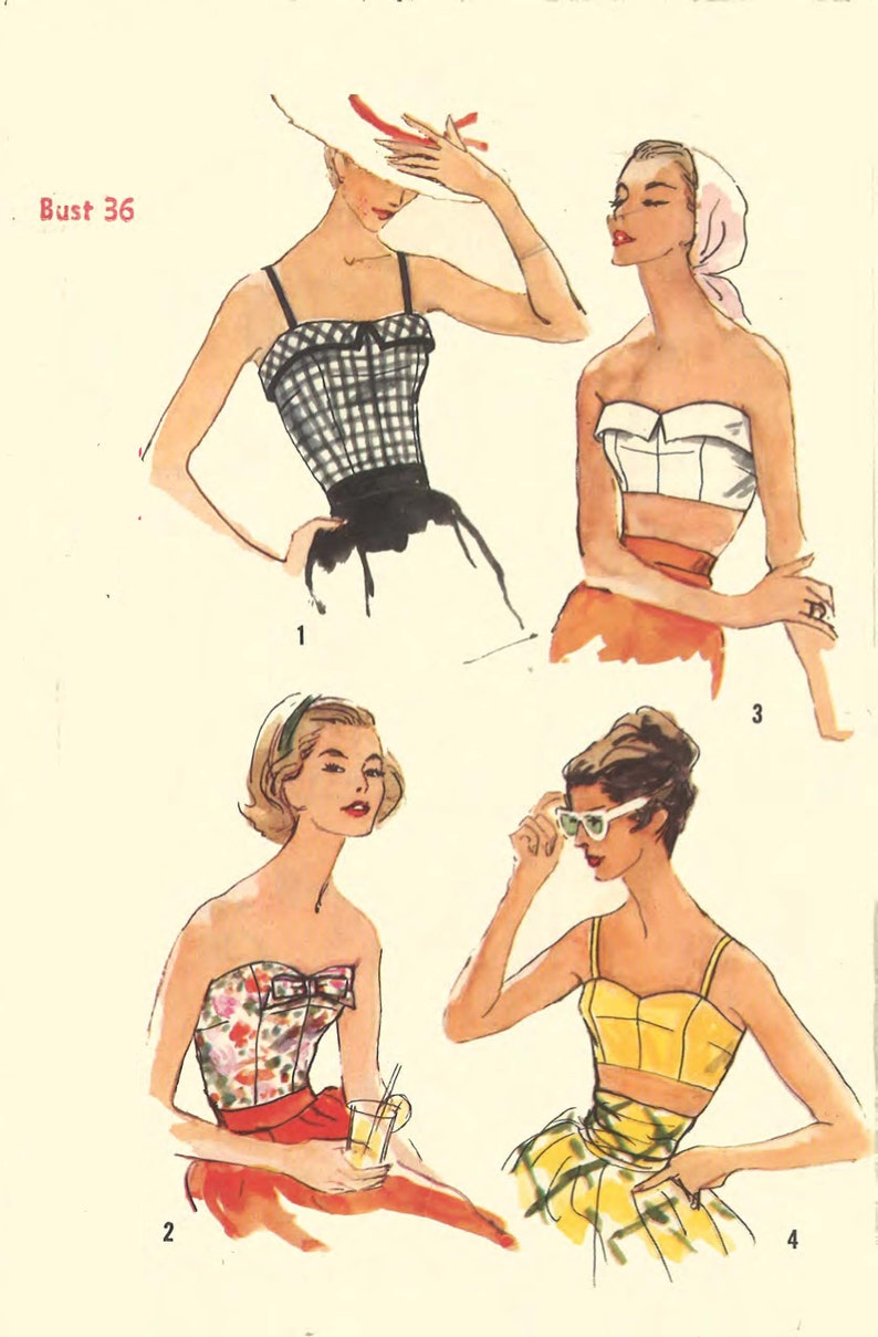 c2a47c50628 1950 s Vintage Sewing Pattern  Women s Bra s And