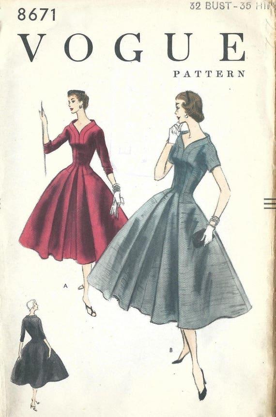 Jahrgang 1950 Nähen Muster herrliche eng anliegendem Oberteil | Etsy