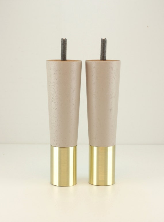 Set Of 2 Mid Century Modern Furniture Legs Replacement Fits Ikea Style Sofa
