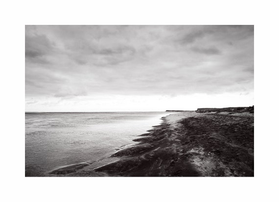 Black And White Beach Scene Waves Lighthouse Beach Chatham Etsy