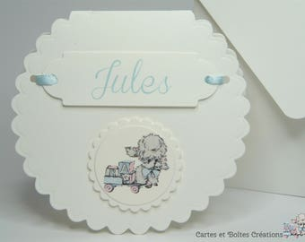 Invitation birth - small dog Vintage Collection - free shipping