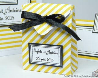Delivery - Collection Chic yellow and black - wedding favors pouch