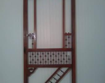Wood screen door | Etsy