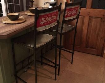 drum furniture. Vintage Upcycled Industrial Castrol Breakfast Kitchen Bar Stool Oil Drum Furniture
