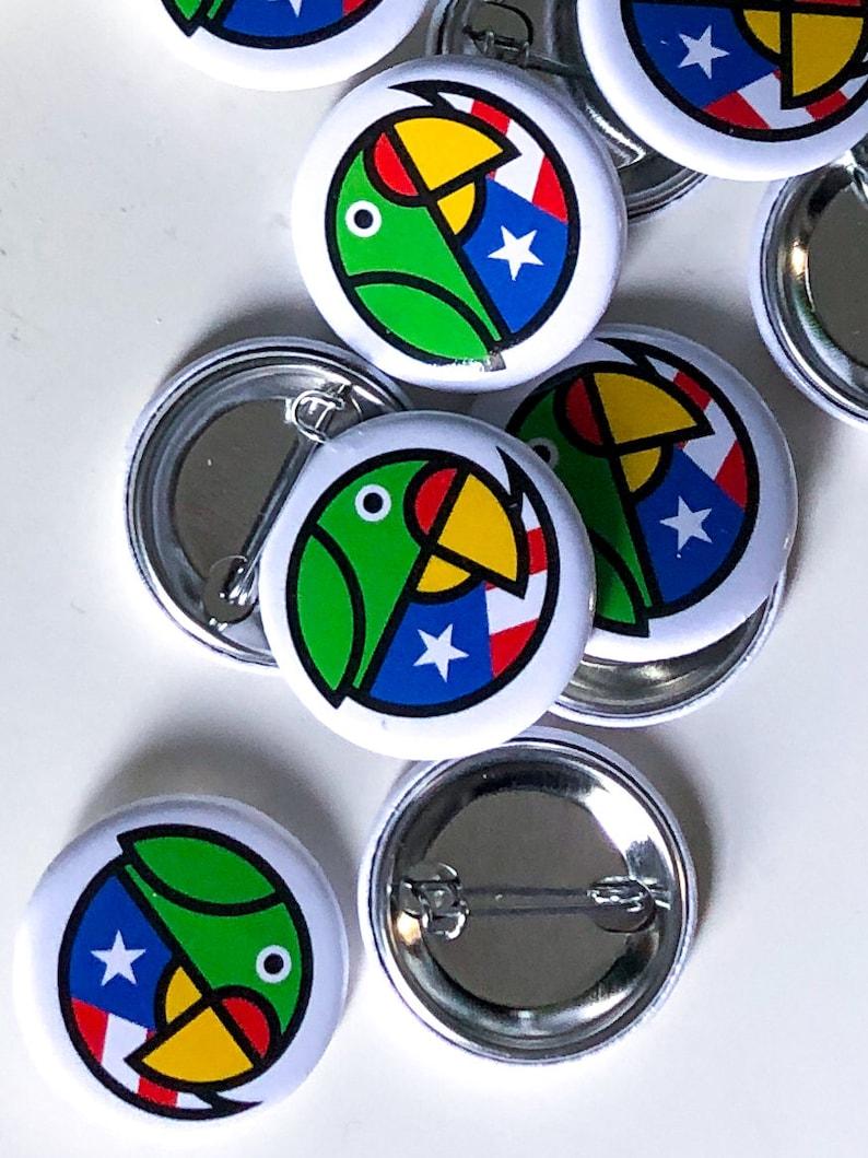 Puerto Rico Parrot Button