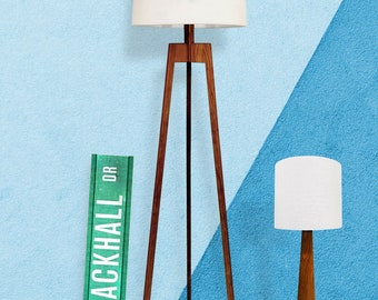 Mid-century Collection: Floor Lamp & Table Lamp Combo