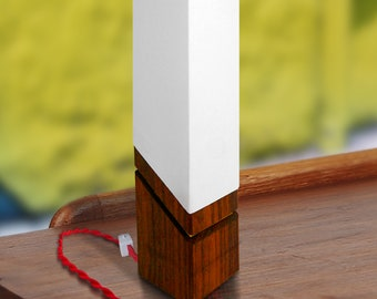 Modern Wood Accent Lamp