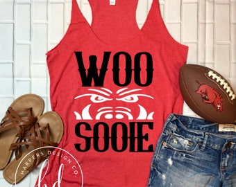 Woo Pig Sooie • Razorbacks • Arkansas • Razorback Football • Bella Canvas