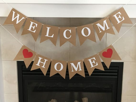 welcome home banner military homecoming homecoming party
