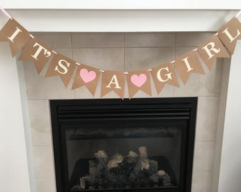 Baby Shower Banner, It's a Girl, Girl Baby Shower, Baby Shower Decorations, Nursery, New Baby, Baby Sprinkle, Photo Prop
