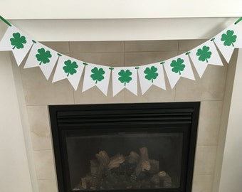 Clover Leaf Banner, St Patrick's Day Banner, St Patty's Day, Holiday Banner, Lucky, Photo Prop