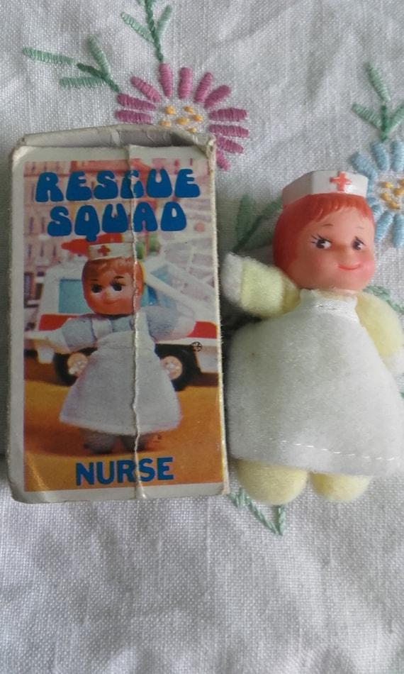 Rescue Squad Nurse Mini Bean Matchbox Doll Mini Beanie  97363e5ffbd3