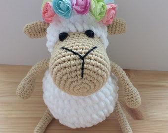 Alex the Sheep, Crochet Sheep, Crochet Lamb,Amigurumi Sheep,Amigurumi animal, Crochet Toy, Child Gift, Newborn Birth Gift, Baby Shower
