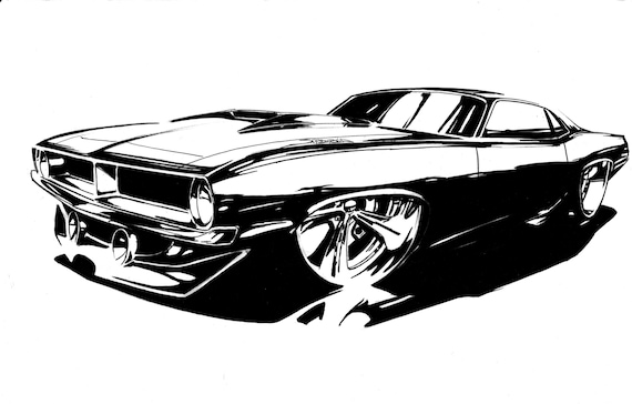 mopar car car art mopar hotrod car wall art wall art mopar etsy