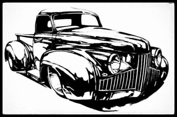 custom car art valentine gift car art set christmas custom etsy 1970 Pontiac Station Wagon 50