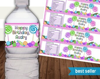 Avery Water Bottle Etsy - Avery water bottle template